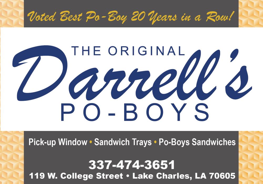 Shreveport, Bossier, MrMenu.biz, 2015 Darrell's Large, Darrell's PoBoys, Advertisement