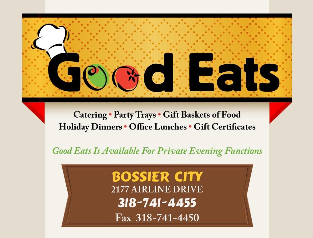 Shreveport, Bossier, MrMenu.biz, Good Eats, 2015 Good Eats Logo, Airline Drive