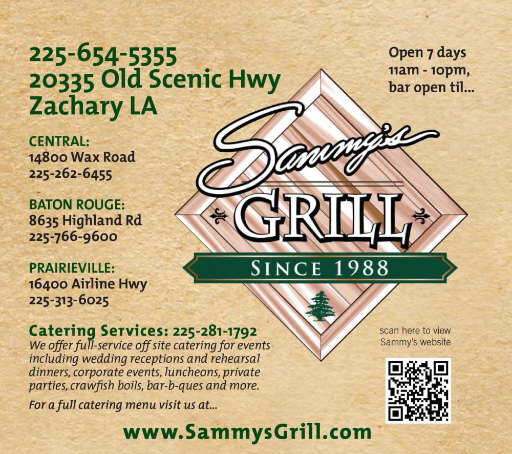 Shreveport, Bossier, MrMenu.biz, 2015 Sammy's Zachary