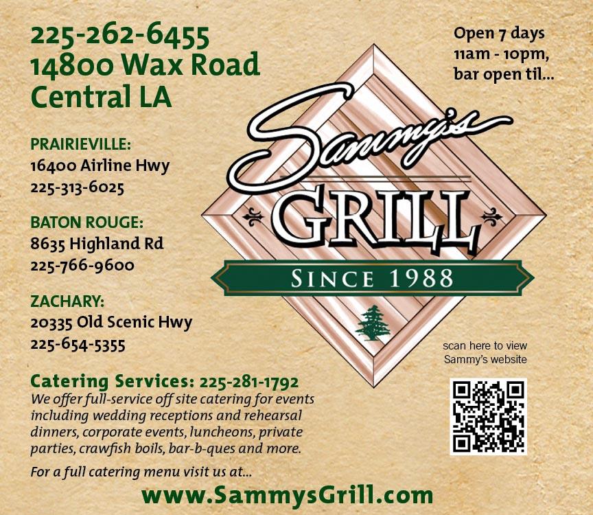 Shreveport, Bossier, MrMenu.biz, Sammy's Grill, Sammy's Grill Central Logo, Highland