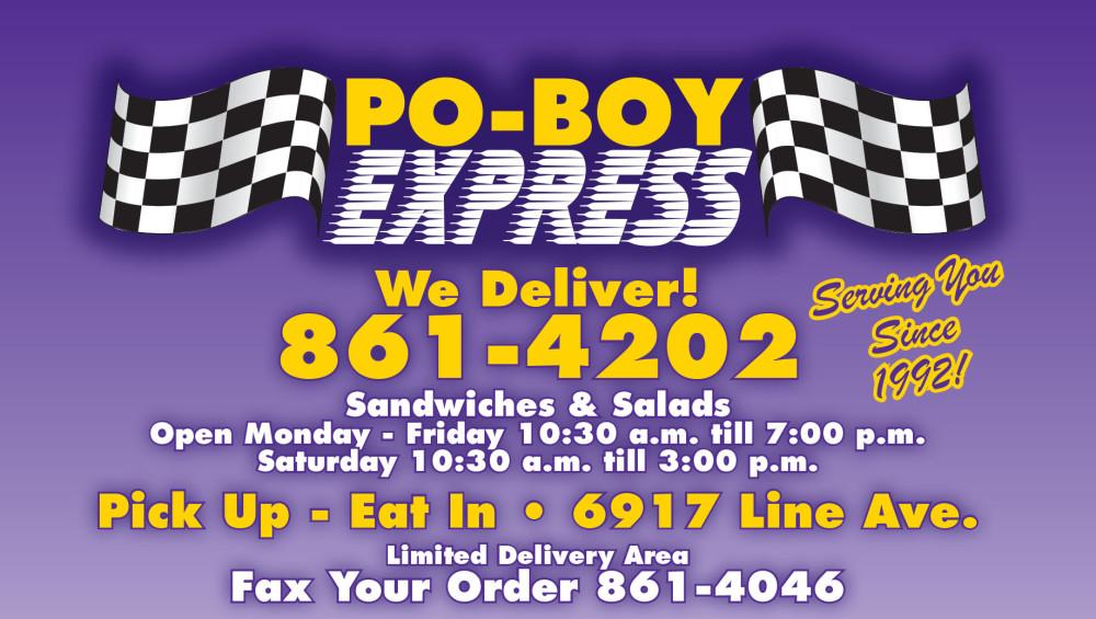 Shreveport, Bossier, MrMenu.biz, PoBoy Express